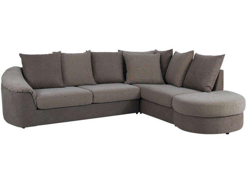 canap angle fixe droit boreal coloris taupe conforama pickture. Black Bedroom Furniture Sets. Home Design Ideas