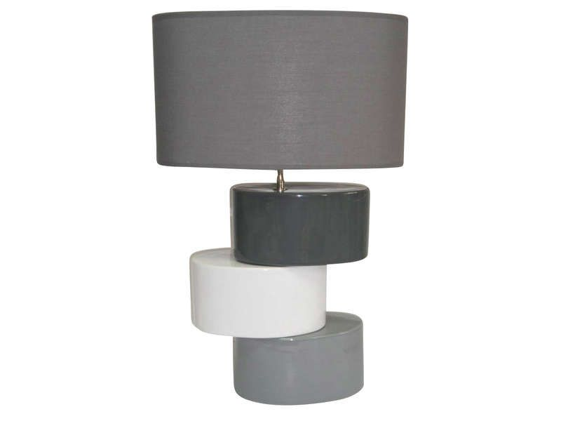 Grande Lampe Poser Level Coloris Gris Conforama Pickture