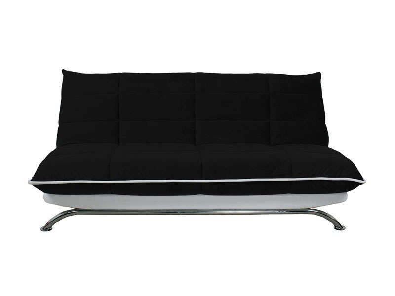 banquette clic clac couetta coloris noir et blanc dunlopillo pickture. Black Bedroom Furniture Sets. Home Design Ideas