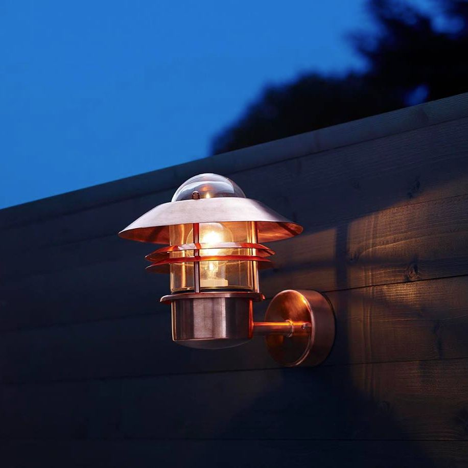 Porch Light John Lewis: Nordlux Blockhus Copper Outdoor Wall Light