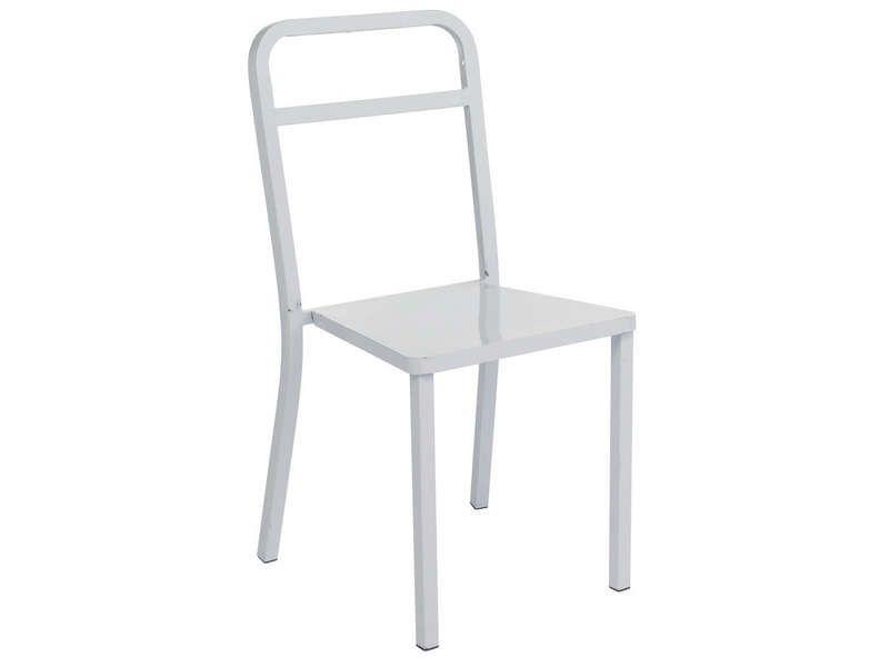 Chaise box coloris blanc conforama pickture - Chaise cuir blanc conforama ...
