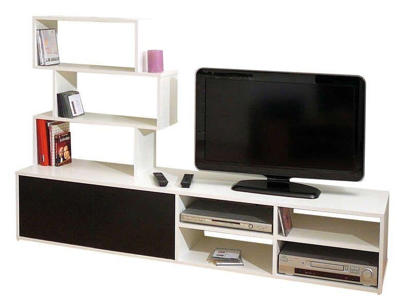 Meuble TV BLACKWHITE  Conforama  Pickture -> Meuble Tv Qui Se Ferme A Clef
