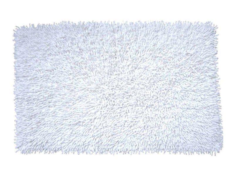 Tapis de bain 50x80 cm shaggy coloris blanc conforama pickture - Conforama tapis de bain ...