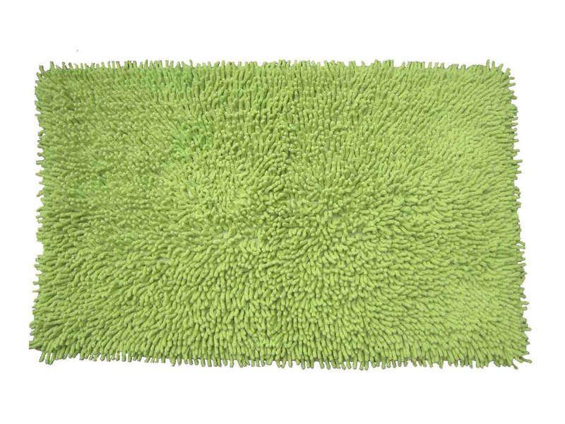 Tapis de bain 50x80 cm shaggy coloris vert conforama pickture - Tapis de bain conforama ...