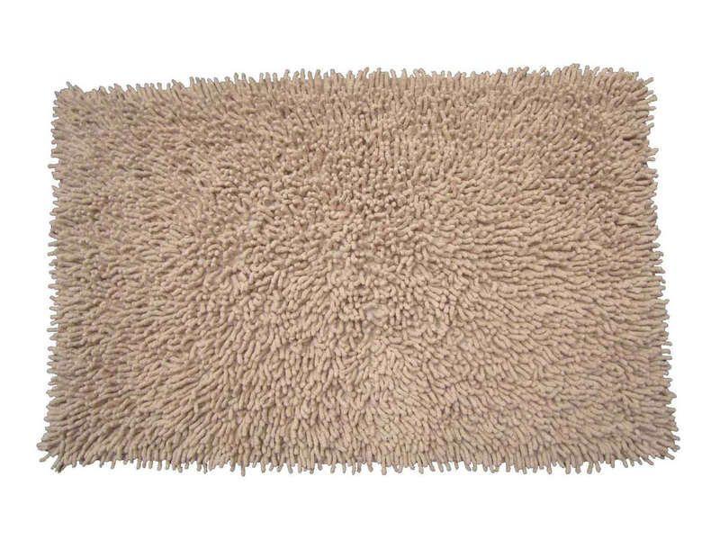Tapis de bain 50x80 cm shaggy coloris beige conforama pickture - Tapis de bain conforama ...
