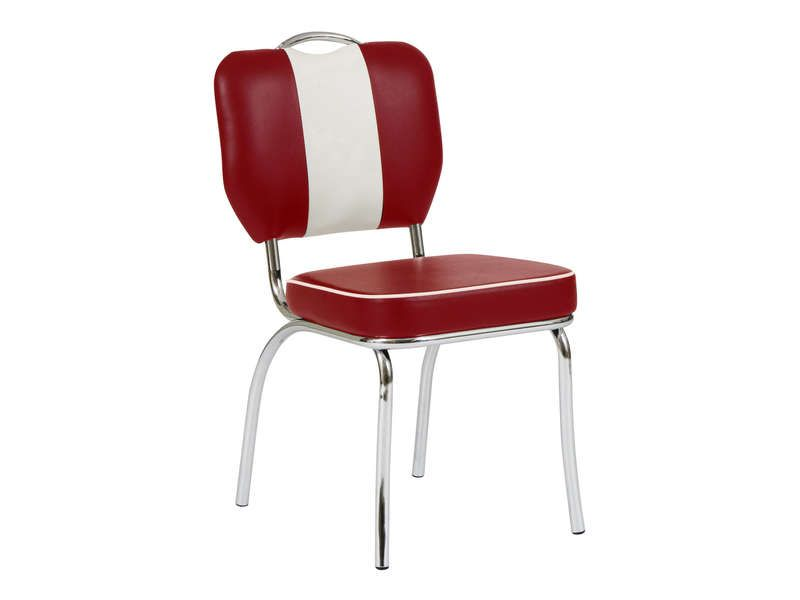 Chaise rouge conforama maison design - Table rouge conforama ...