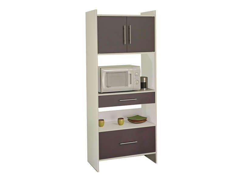 desserte haute 2 portes 2 tiroirs valy coloris. Black Bedroom Furniture Sets. Home Design Ideas