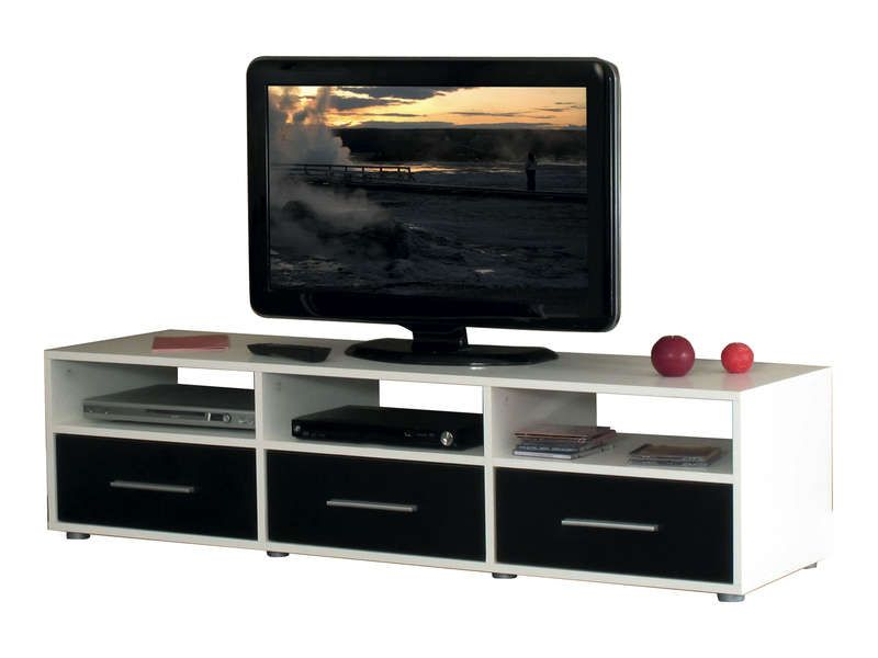 Tv Rubis Blanc Taupe : Meuble Tv 3 Tiroirs Citizen Coloris Blanc Taupe ...