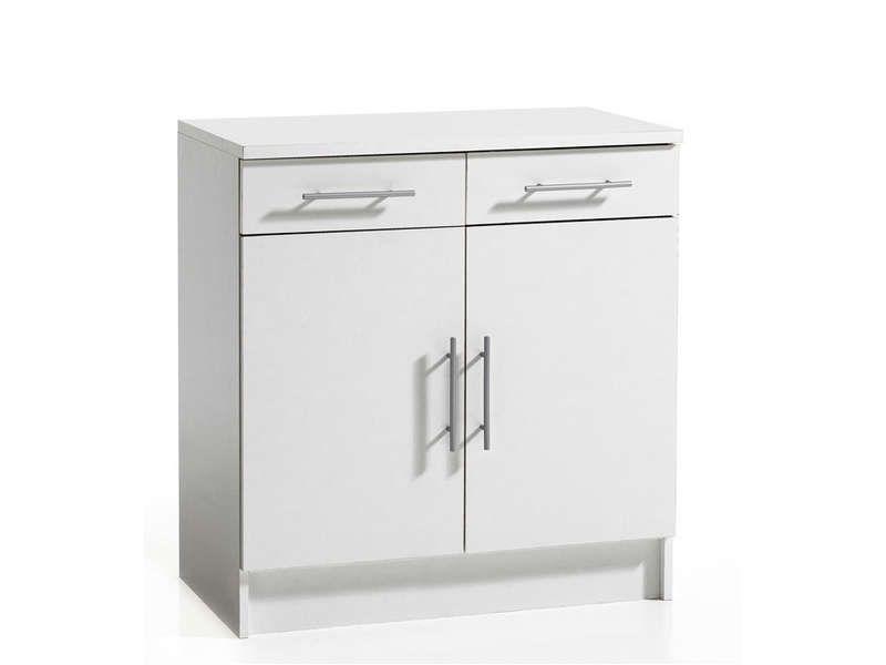 meuble bas 80 cm 2 portes 2 tiroirs melanie conforama pickture. Black Bedroom Furniture Sets. Home Design Ideas