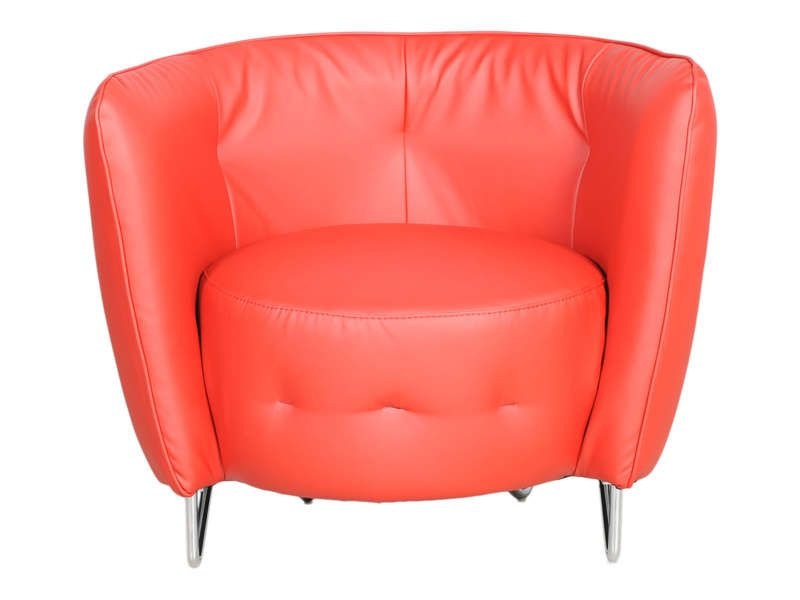 Fauteuil maybe coloris rouge conforama pickture - Fauteuil rouge conforama ...