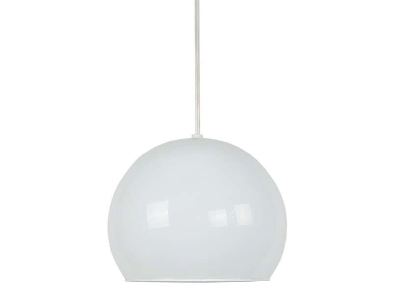 suspension boule en verre palla coloris opale conforama pickture. Black Bedroom Furniture Sets. Home Design Ideas