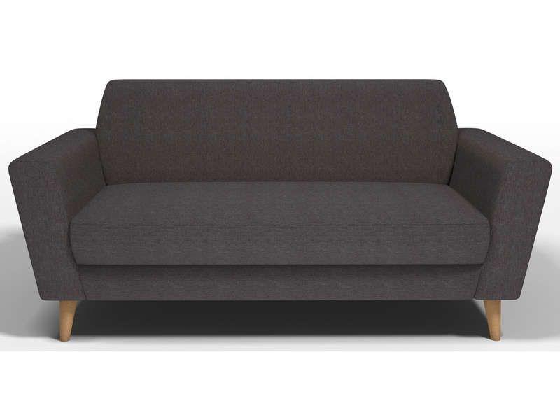 canap fixe 3 places ikonn coloris gris conforama pickture. Black Bedroom Furniture Sets. Home Design Ideas