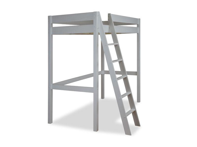 mezzanine 90x200 cm swan coloris blanc conforama pickture. Black Bedroom Furniture Sets. Home Design Ideas