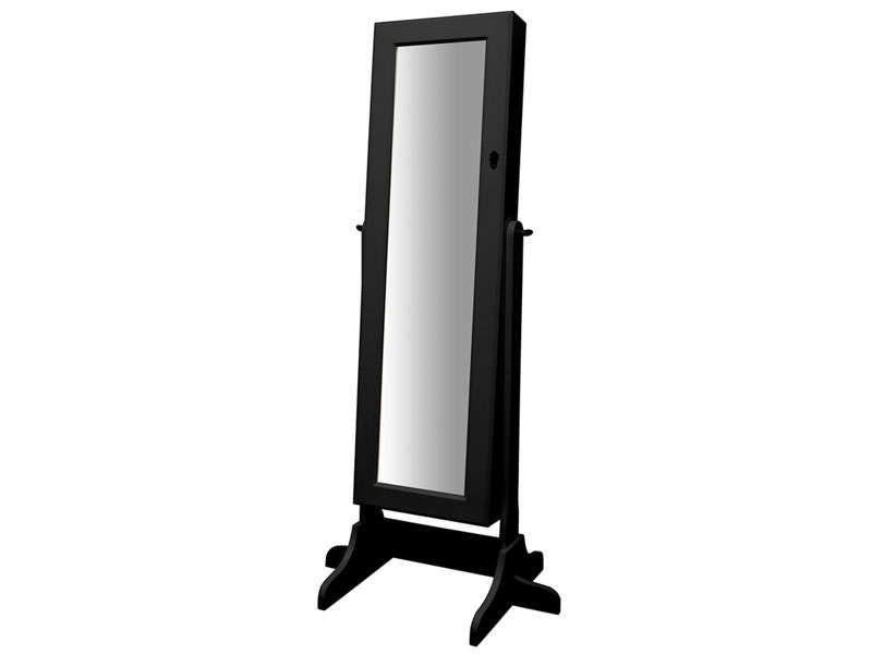 Miroir coffre bijoux monica coloris noir conforama - Coffre a bijoux miroir ...