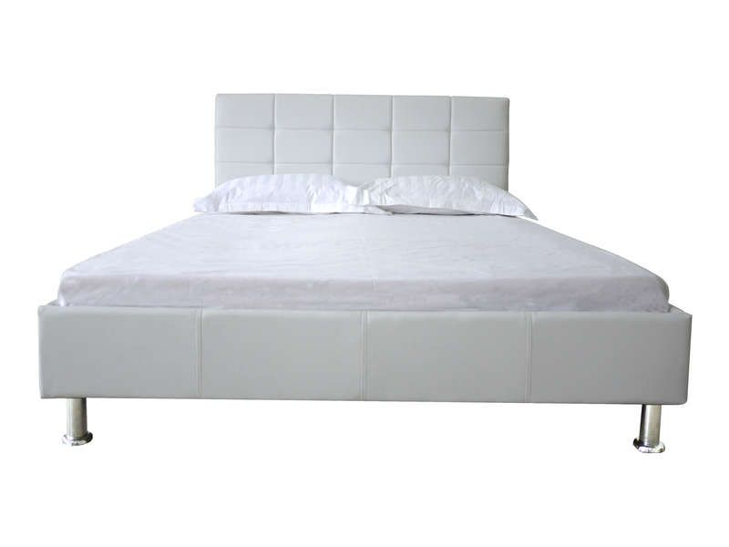 Lit 140x190 cm brooklyn coloris blanc conforama pickture - Lit capitonne 140x190 ...