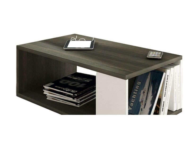 table basse tokk coloris anthracite et blanc conforama pickture. Black Bedroom Furniture Sets. Home Design Ideas