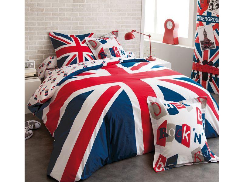 drap housse 140x190 cm british conforama pickture. Black Bedroom Furniture Sets. Home Design Ideas