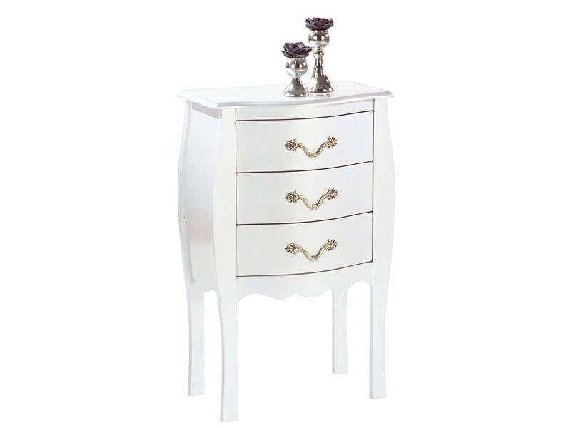 commode 3 tiroirs murano coloris blanc conforama pickture. Black Bedroom Furniture Sets. Home Design Ideas