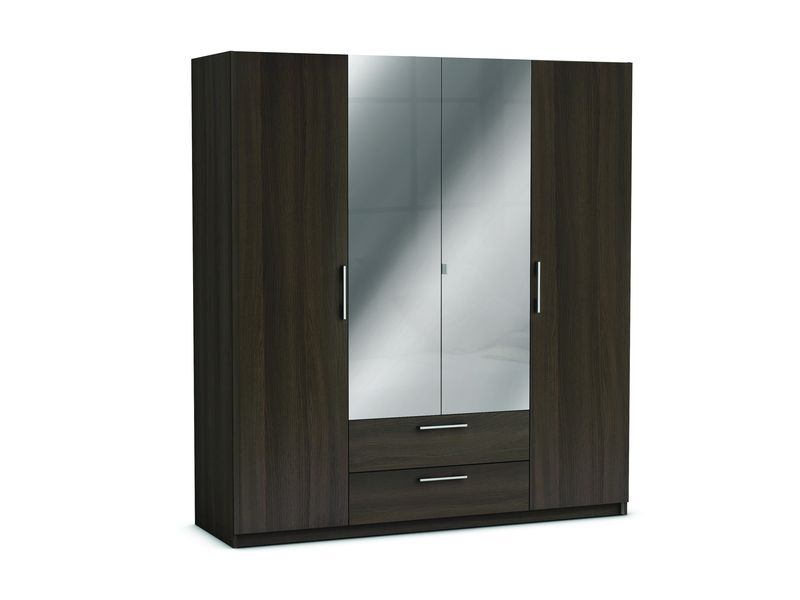 armoire 4 portes 2 tiroirs jupiter coloris ch ne. Black Bedroom Furniture Sets. Home Design Ideas