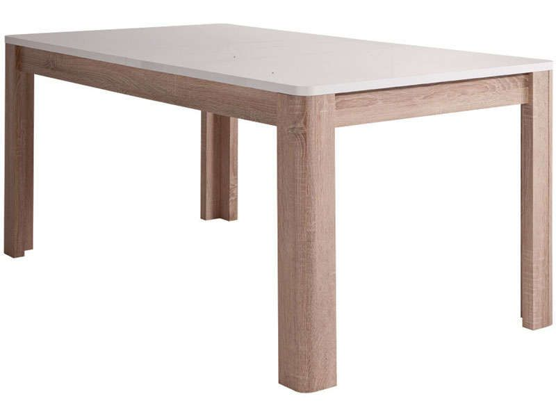 Table rectangulaire levi conforama pickture - Table salle a manger blanc laque conforama ...