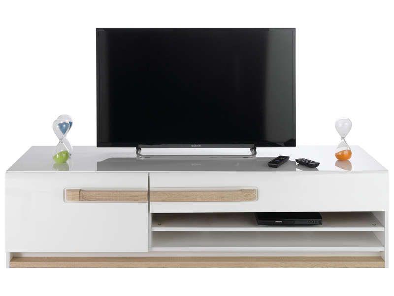 banc tv levi conforama pickture. Black Bedroom Furniture Sets. Home Design Ideas