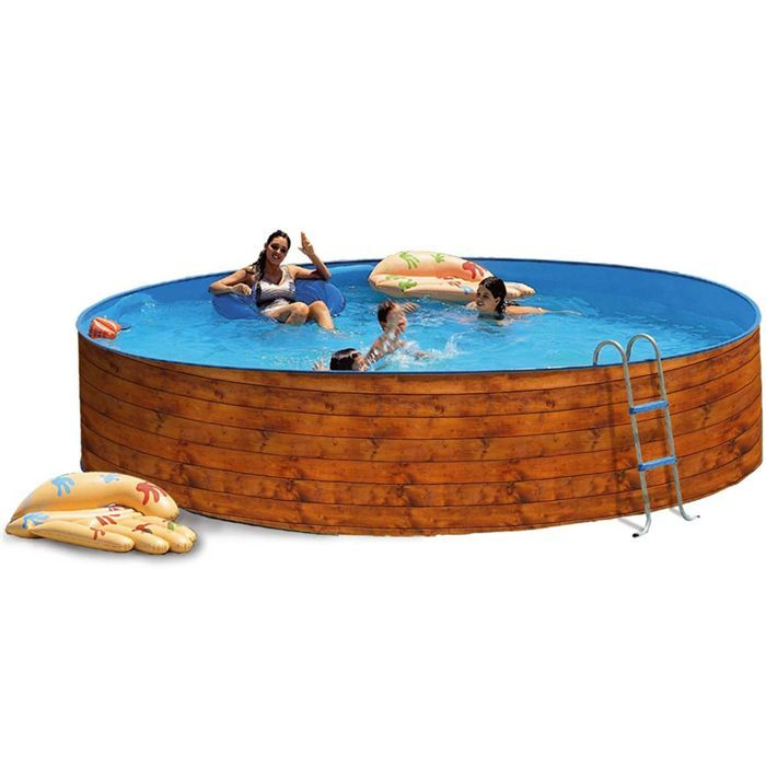 Tnica piscine acier ronde 350x90cm torrente industrie for Calcul volume piscine ronde