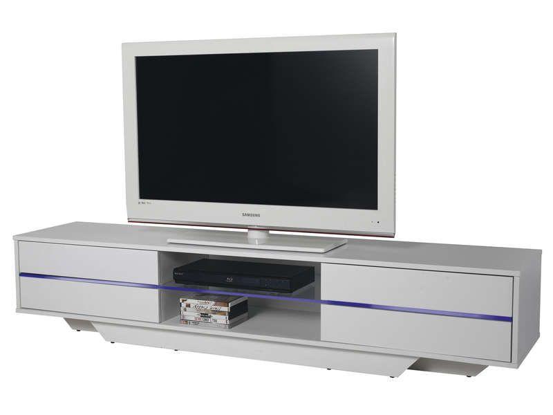 meuble tv blues coloris blanc conforama pickture. Black Bedroom Furniture Sets. Home Design Ideas
