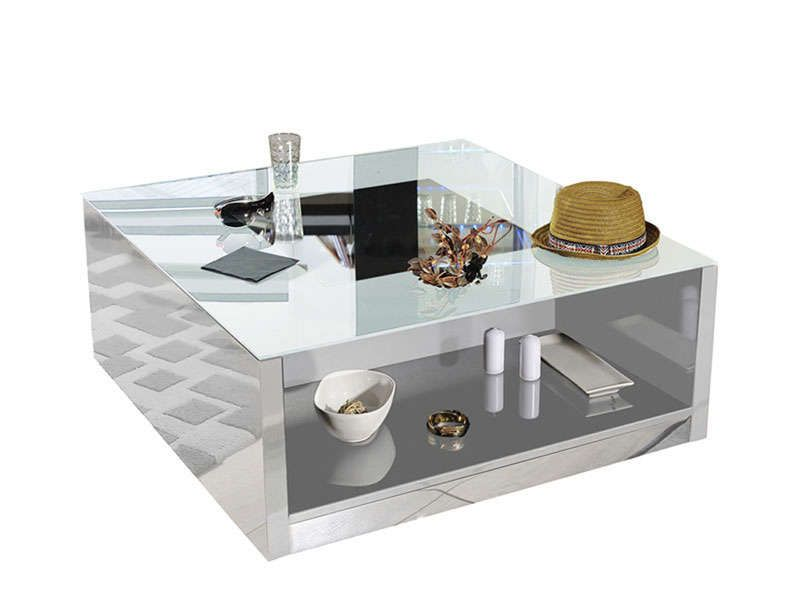 table basse vertigo laqu blanc conforama pickture. Black Bedroom Furniture Sets. Home Design Ideas