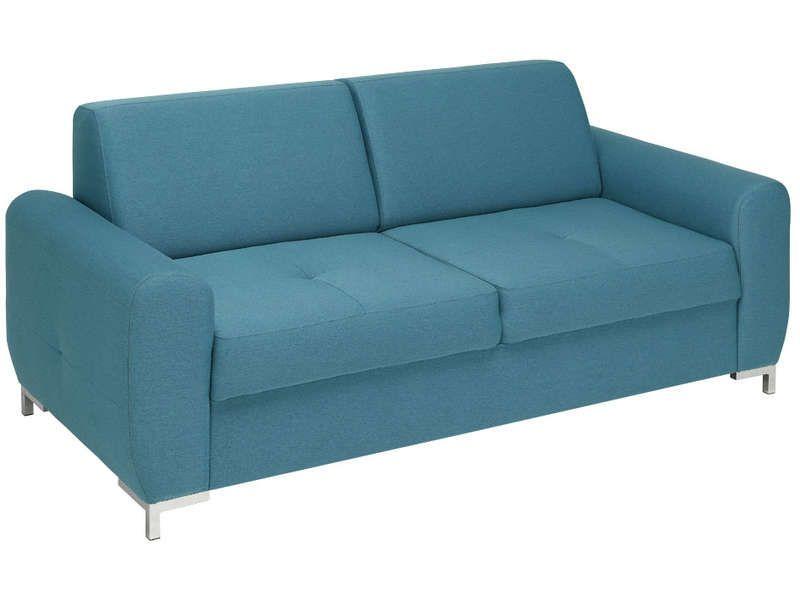 Canap fixe 3 places lexx coloris bleu conforama pickture - Canape bleu conforama ...