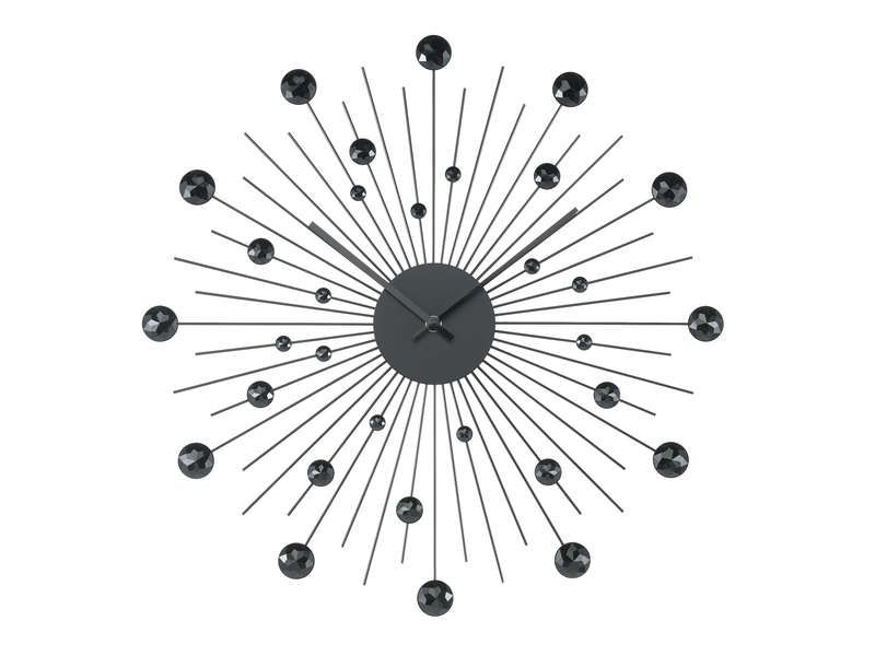 Horloge 50 cm diamant coloris noir conforama pickture - Horloge murale contemporaine ...