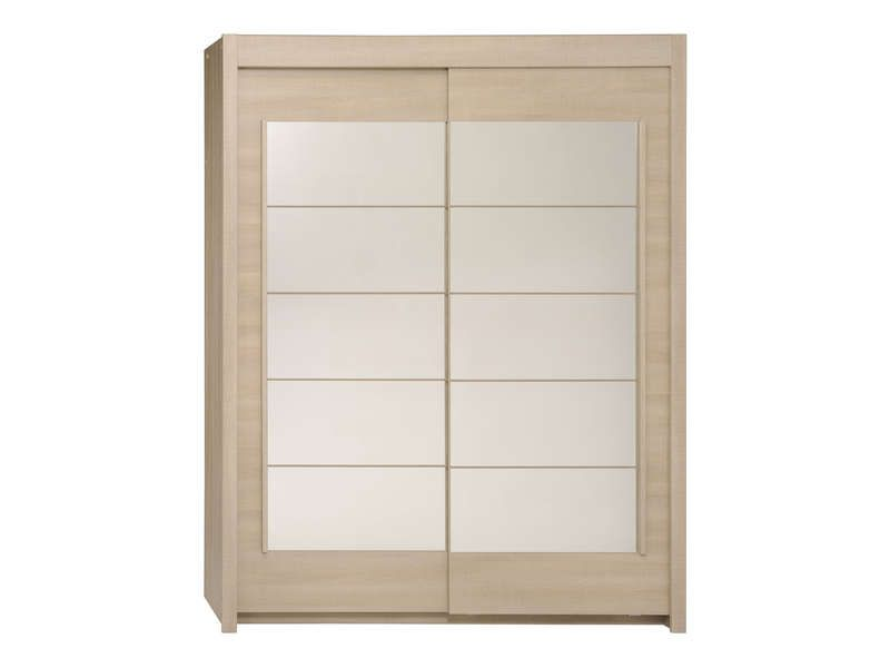 Armoire 2 portes coulissantes split coloris conforama for Armoire penderie 2 portes coulissantes