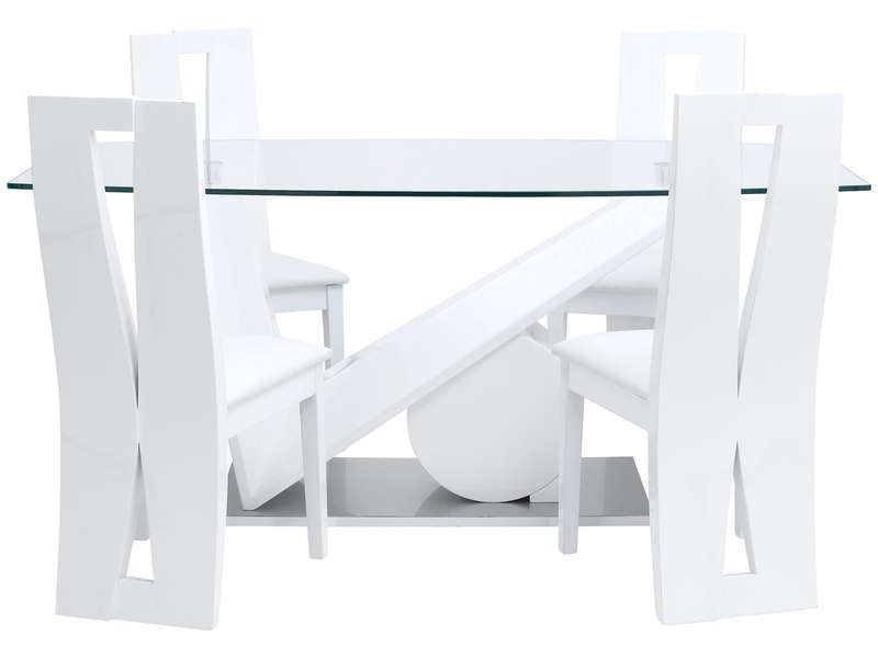table rectangulaire brook coloris blanc conforama pickture. Black Bedroom Furniture Sets. Home Design Ideas