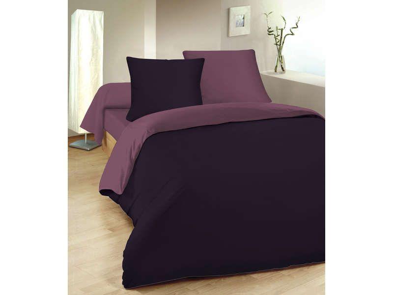 parure housse de couette 260x240 cm 2 taies conforama. Black Bedroom Furniture Sets. Home Design Ideas