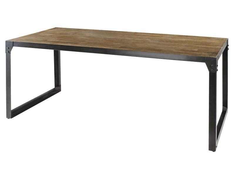 table rectangulaire 180 cm worker en acacia conforama pickture
