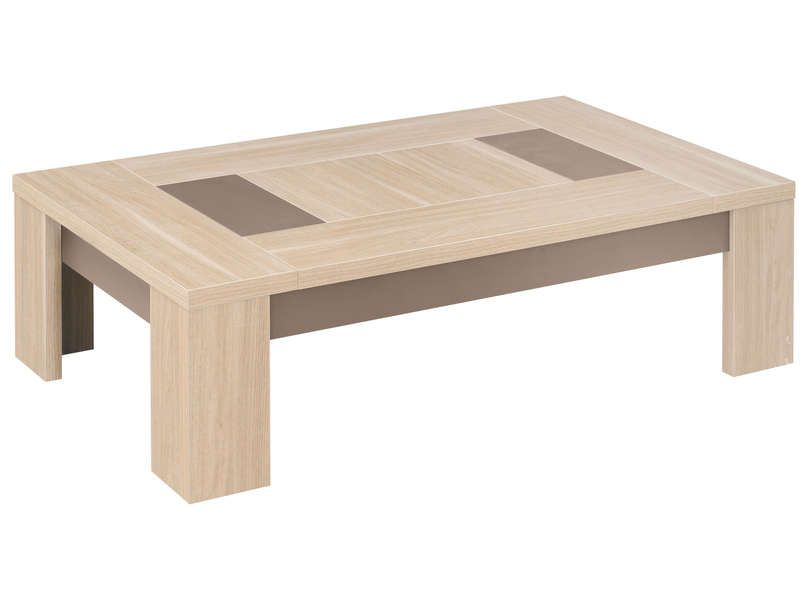 Table basse atlanta coloris ch ne clair conforama pickture - Table basse en chene clair ...