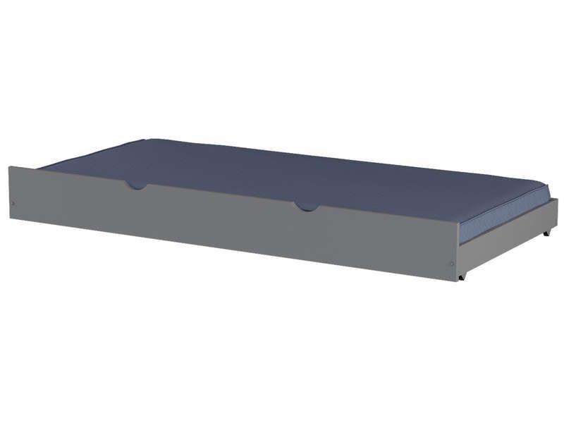 Tiroir pour lit 90x200 cm harry 5 coloris gris conforama for Lit tiroir conforama