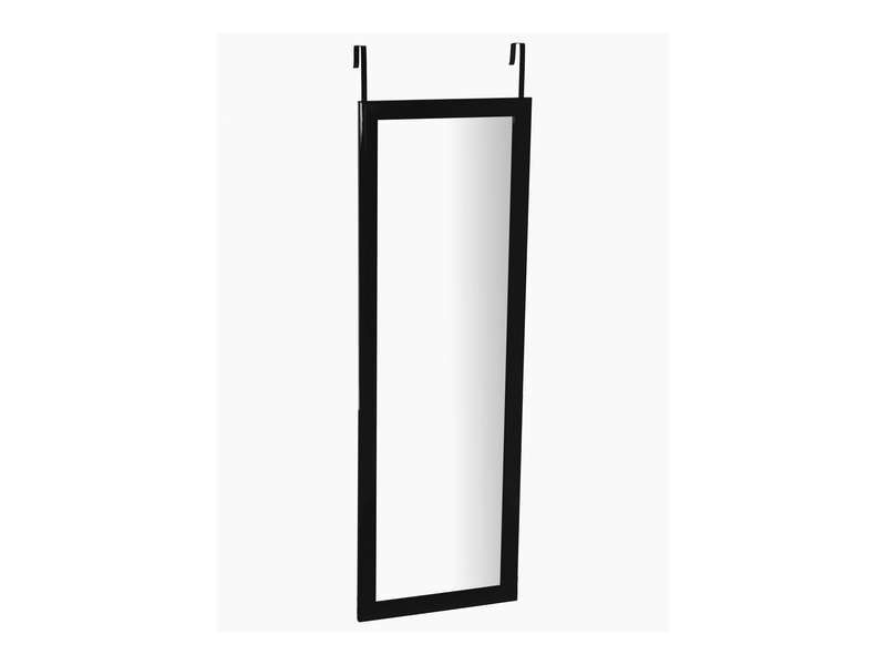 Miroir de porte 110x36 cm class coloris noir conforama for Miroir conforama