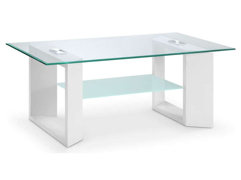 Table basse samara coloris blanc conforama pickture - Table de salon conforama en verre ...