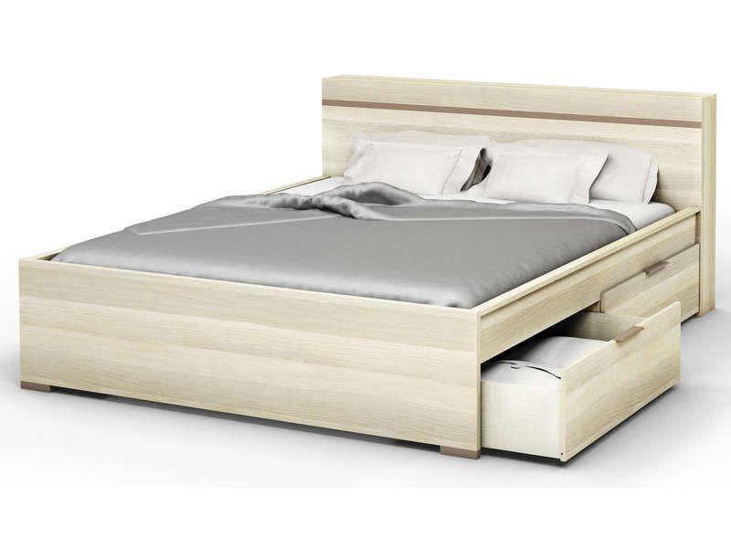 lit 140 avec tiroirs maison design. Black Bedroom Furniture Sets. Home Design Ideas