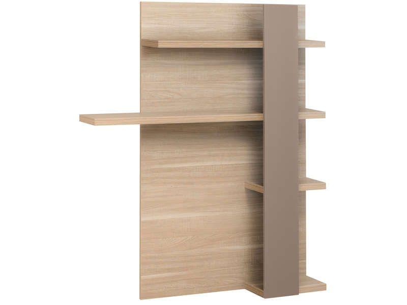 sur meuble tv atlanta coloris ch ne clair conforama. Black Bedroom Furniture Sets. Home Design Ideas