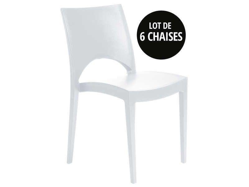 lot de 6 chaises de jardin empilables oporto conforama pickture. Black Bedroom Furniture Sets. Home Design Ideas