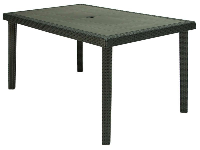 Table de jardin 90x150 cm boheme coloris conforama for Table de jardin conforama