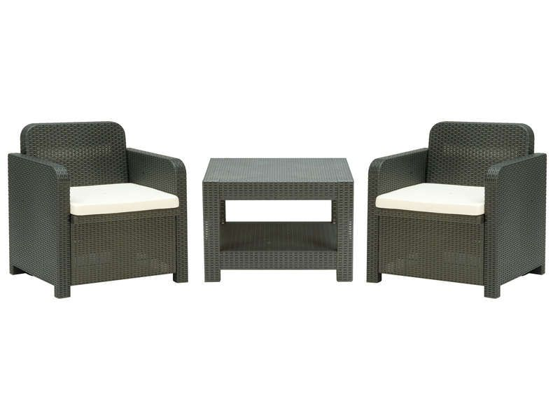salon de jardin 2 fauteuils 1 table basse conforama. Black Bedroom Furniture Sets. Home Design Ideas