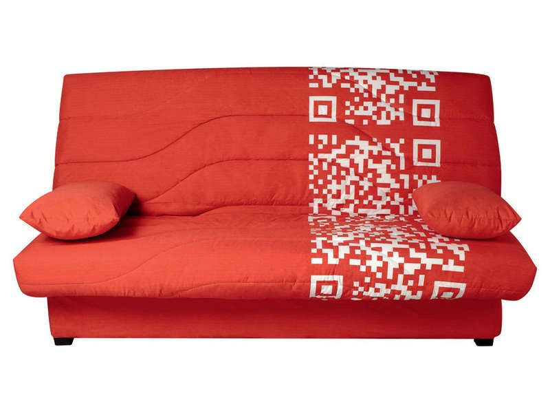 Couette clic clac 140 cm prima fcode rouge conforama pickture - Clic clac couchage 140 ...