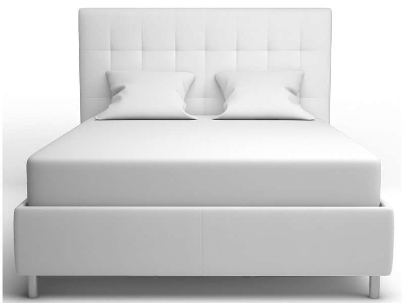 Lit 140 x 190 cm capri coloris blanc conforama pickture - Lit capitonne blanc conforama ...