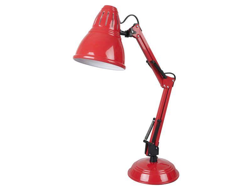 Lampe de bureau archimede coloris rouge conforama pickture - Conforama lampe de bureau ...
