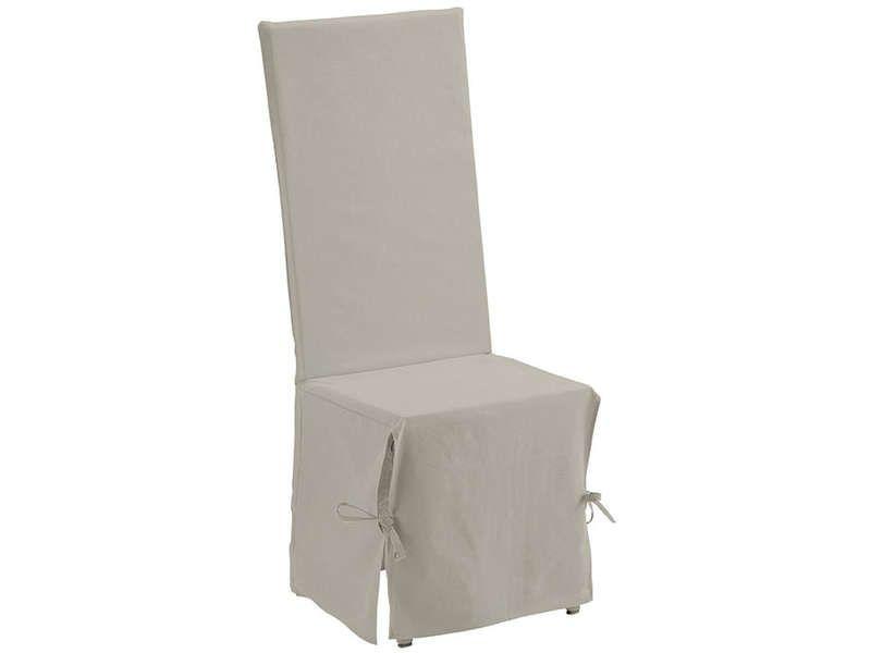 Housse de chaise 45x50 cm coloris ivoire conforama for Housse de chaise conforama
