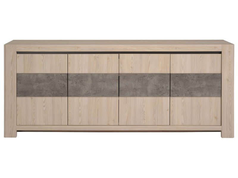 buffet 4 portes chris conforama pickture. Black Bedroom Furniture Sets. Home Design Ideas