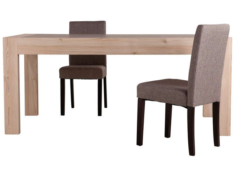 Table de s jour 180 cm chris conforama pickture for Meuble de salle a manger imitation pierre