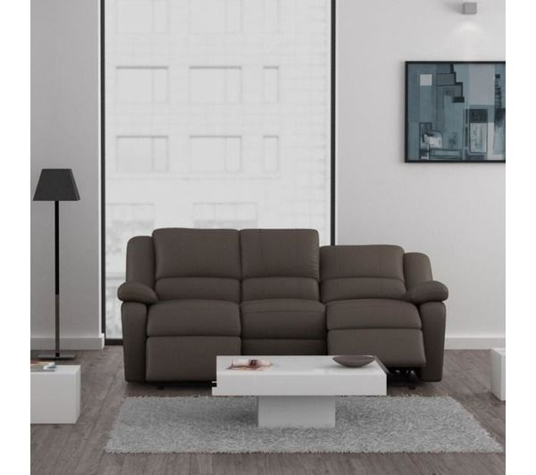 RELAX Canapé Cuir PU taupe 3 places NONAME Pickture